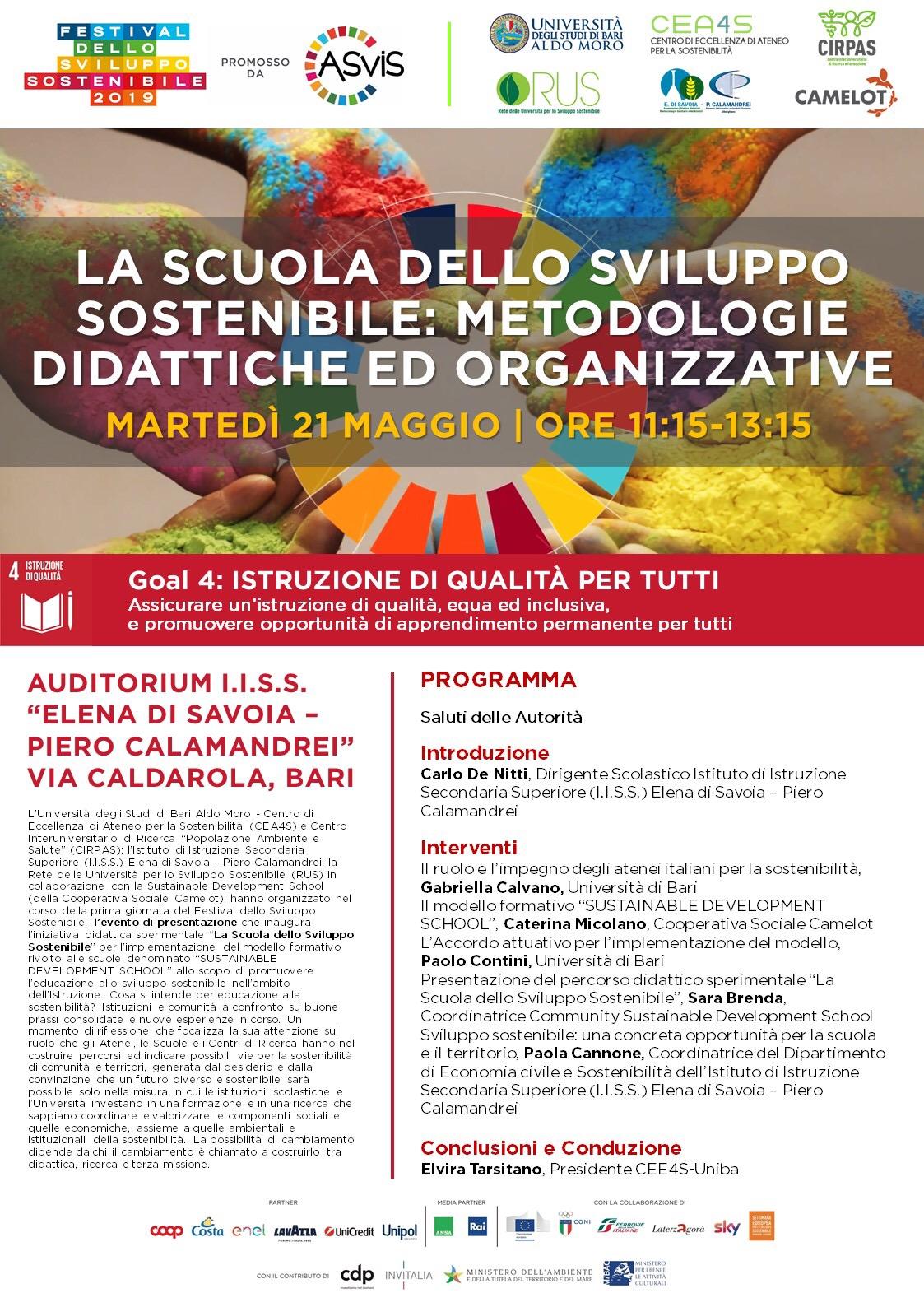 Calendario Lezioni Uniba.Maggio 2019 Elena Di Savoia Piero Calamandrei